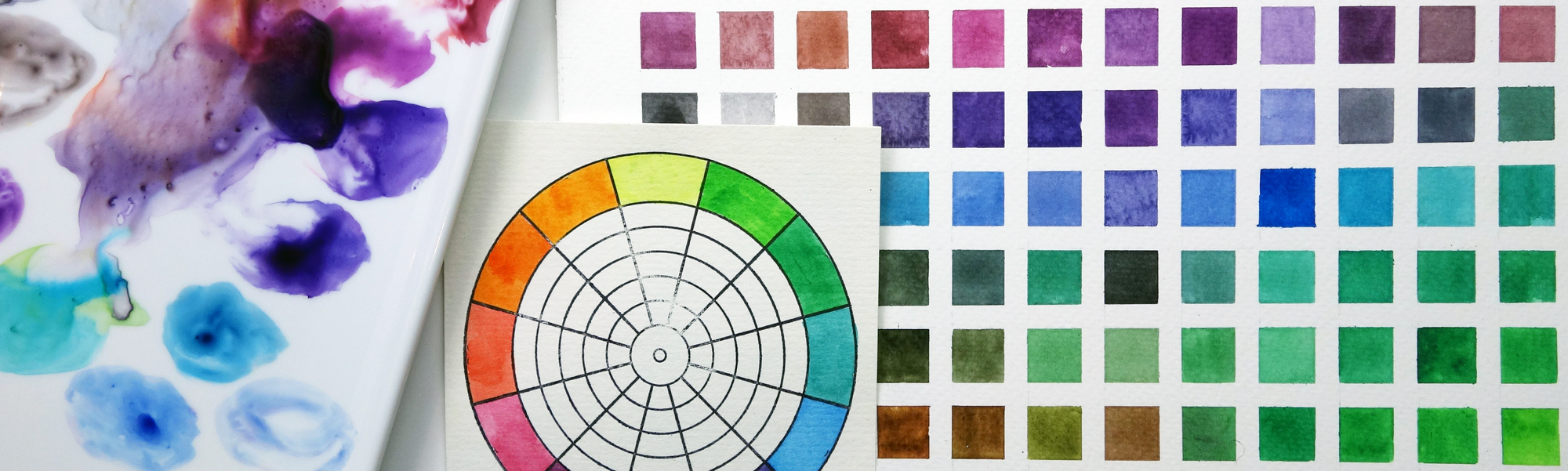 Nuancier couleurs aquarelle